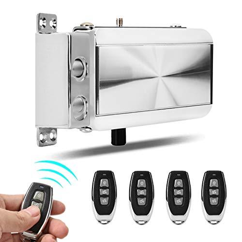 Serratura Elettrica Telecomando - Telecomando Home Door Lock Kit Serratura Meccanica Antifurto Telecomando Keyless Entry Serratura con Quattro Telecomandi