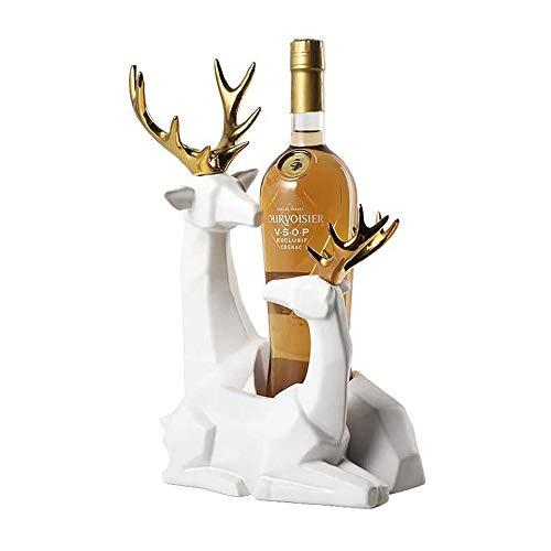 YIBOKANG Estanterías de Vino Alces Estante de Vino Creativo gabinete de Vino bastidores Sala de Estar Sala de decoración de hogar Adornos para el hogar Regalos de Boda (Color : Si)