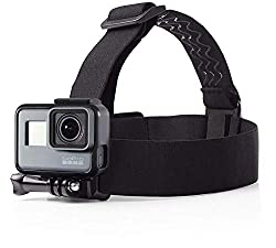 Waterproof head-strap camera mount that works with any GoPro camera One size fits all, fits directly on head or over most helmets Ideal for hands-free filming when you want a point-of-view angle Adjustable nylon straps with non-slip rubber inserts; p...