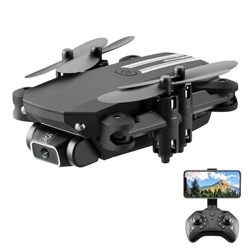 HaiMa Lsrc-Min Mini Wifi Fpv Con 0.3Mp / 5.0 / 4Kmp Hd Cámara Altitude Hold Mode Foldable Rc Drone Quadcopter Rtf - Negro 480P Con Caja De Color