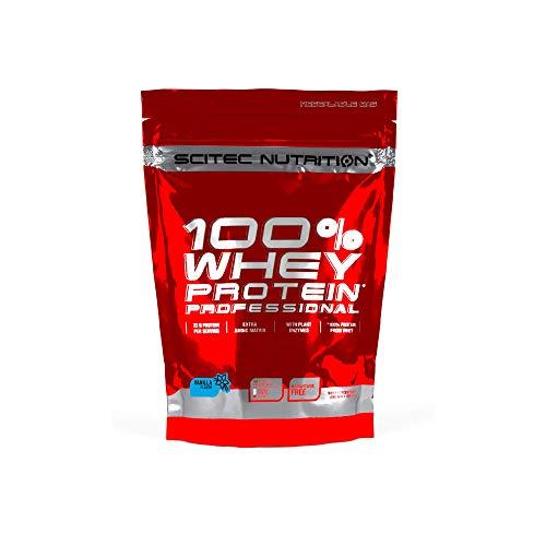 Scitec Nutrition 100% Whey Protein Professional con aminoacidi chiave extra e enzimi digestivi, senza glutine, 500 g, Vaniglia