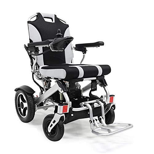 DLY Ältere Menschen mit Behinderung Kompakter Zusammenklappbarer Elektrorollstuhl Manueller Rollstuhl Roller Multifunktionsrollstuhlaluminiumlegierung mit Doppelter Federung