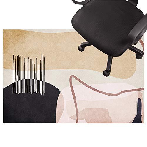 schreibtischstuhl unterlage Teppich Teppich für bürostuhl, Low Pile Carpet, rutschfeste Stuhlmatte, Silent Bodenschutzmatte Für Holzböden, Keramikfliesen, Laminat(Size:120×160cm/47×93in,Color:EIN)
