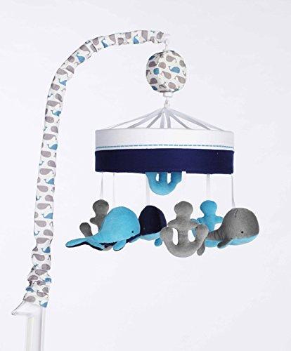 Just Born Boys and Girls Newborn Infant Baby Toddler Nursery Toy Musical Baby Crib Mobile, High Seas Grey/Blue