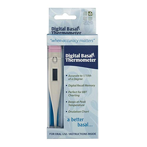 Fairhaven Health Digital Basal Thermometer for Fertility Charting and...
