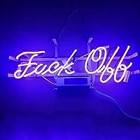 LiQi【FUCK OFF】ネオン 看板 NEON SIGN デザイン、省エネ、バー、オーム、カフェ、喫茶店、広告用看板、クラブ及び娯楽場所等