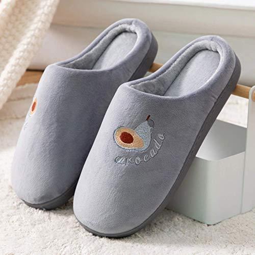Home Slippers Casual Fruit Katoen Slippers Super Soft Home Schoenen Antislip Indoor Outdoor Slippers Voering Pluche Bont Slippers Winterschoenen Dames TINGG (Size : 3/4UK=36/37)