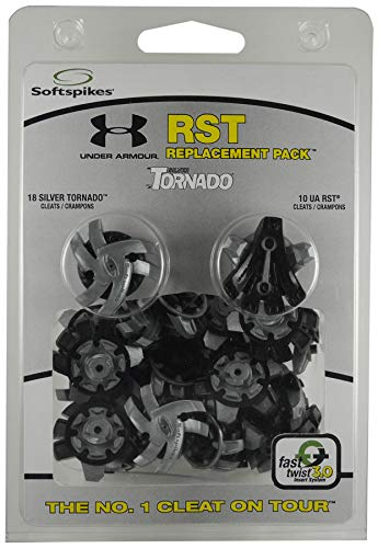 Softspikes Tornado Under Armour Cleat Mix Golf, Black/Silver, One Size