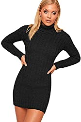 Authentic & Original Only From WearAll Length 87cm Long Sleeves With Polo High Neck Cable Knitted Fabric Available In A Choice Of Bang On Trend Colours