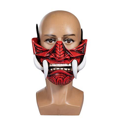 Dailygocn - Máscara de oni demonio para adulto (resina, para colecciones/cosplay/decoración)