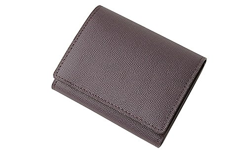 【キプリス】三つ折り財布■ペルラネラ 8443(パープル×グレー)