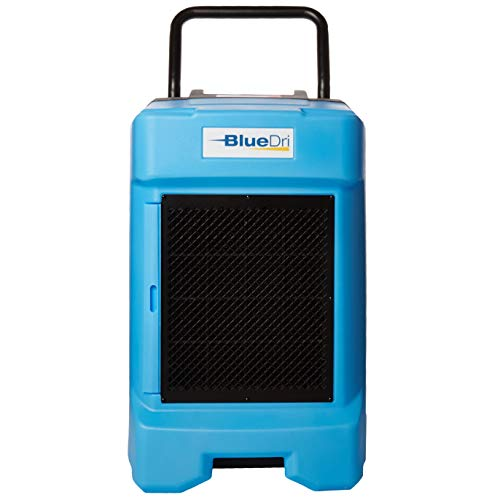 BlueDri BD-BD-130-BL Industrial Commercial Dehumidifier with Hose for Basements in