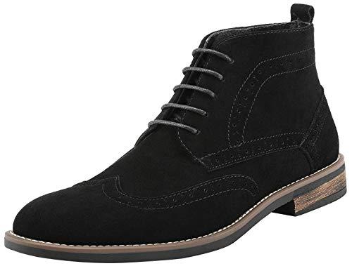 Bruno Marc Men's URBAN-02 Black Suede Leather Lace Up Oxfords Desert Boots – 12 M US