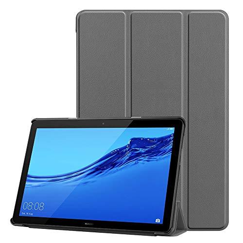 KATUMO Funda para Huawei Mediapad T5 10.1 Pulgadas Cover con Soporte Función Tríptica Ligera Cuero Funda para Tableta Huawei T5 10 Case