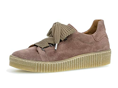 Gabor Damen Sneaker 33.330, Frauen Low-Top Sneaker,Halbschuh,Schnürschuh,Strassenschuh,Business,Freizeit,Dark-Rose (Natur),38.5 EU / 5.5 UK