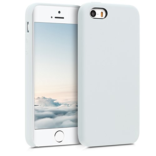 kwmobile Funda Compatible con Apple iPhone SE (1.Gen 2016) / 5 / 5S - Carcasa de TPU para móvil - Cover Trasero en Blanco
