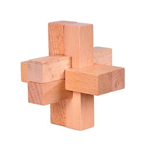 AIJIANG Kongming Lock Luban - Juego de rompecabezas de madera sin sabor, no tóxico, juguetes intelectuales clásicos para niños y adultos