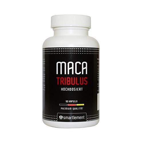 Maca Tribulus hochdosiert + Zink + Vitamin C, B6, B12 – 90 Kapseln (1x71g) 100% natürliches Produkt
