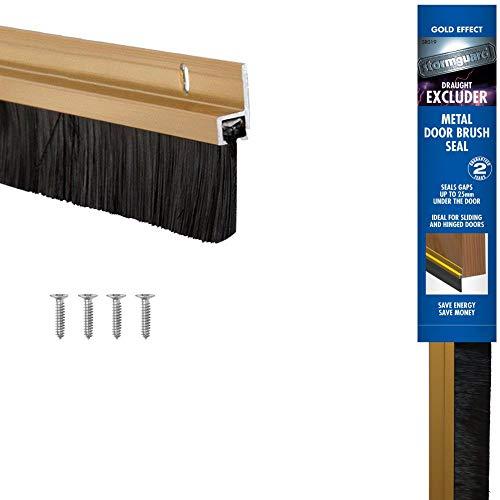 STORMGUARD Gold 02SR0190838G 838mm Bottom of The Door Brush Strip Draught Excluder (2 9 )