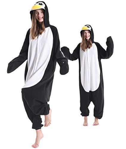 Adult Penguin Pajamas One Piece Halloween Christmas Cosplay Penguin Costume Animal Homewear Sleepwear for Women Men