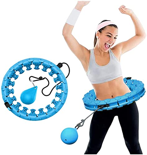 Wythe Aro inteligente para adultos, ajustable, ancho, con puntos de masaje, para niños y adultos, principiantes, con aro de gimnasia para adelgazar, fitness, masaje, color azul