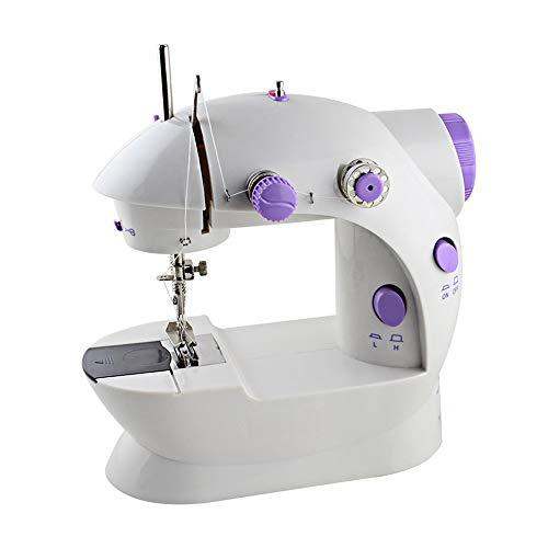 HEOMU Máquina de Coser con luz, Mini máquina de Coser portátil Pedaleo hogar Niños Principiantes Niñas y niños