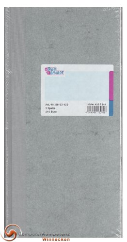 König & Ebhardt 8613123 Geschäftsbuch (13,7x29,7cm mit festem Kopf, 80g/m²)
