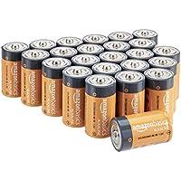 AmazonBasics - Pilas alcalinas D, de 1,5 voltios, gama Everyday, paquete de 24 (el aspecto puede variar)