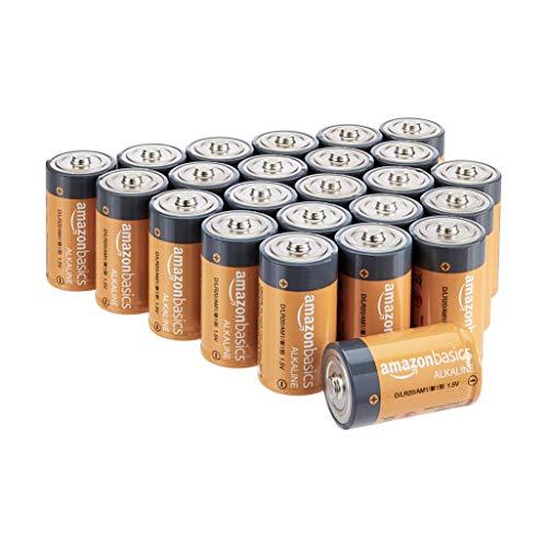 Oferta de Amazon Basics - Pilas alcalinas D, de 1,5 voltios, gama Everyday, paquete de 24 (el aspecto puede variar)