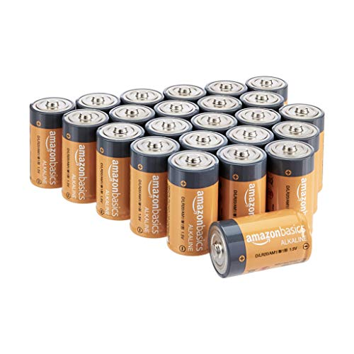 AmazonBasics D Cell 1.5 Volt Everyday Alkaline Batteries - Pack of 24