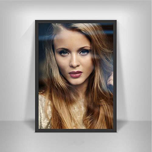 lubenwei Zara Larsson Poster Schwedische Musiksängerin Star Wall Art Picture Poster und Drucke Leinwandmalerei für Room Home Decor 40x60cm Kein Rahmen AW-1941