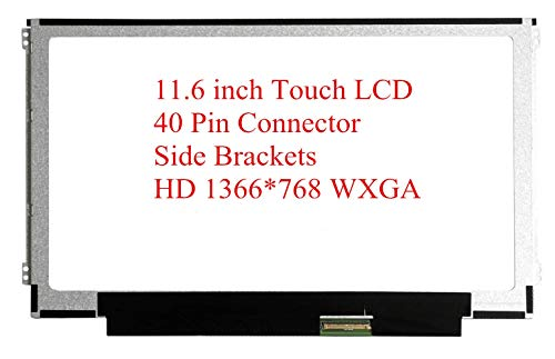 Rinbers B116XAK01.1 11.6' WXGA HD 1366x768 LCD Screen LED Dispaly Touch Panel Digitizer Assembly Replacement with 40 Pin Connector for Dell Chromebook 11 3100 Touch