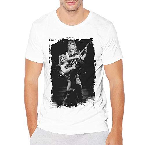 Nanadang Randy Rhoads Ozzy Osbourne Men's Short Sleeve Summer Fashion Round Neck Tshirt Fitness White XL