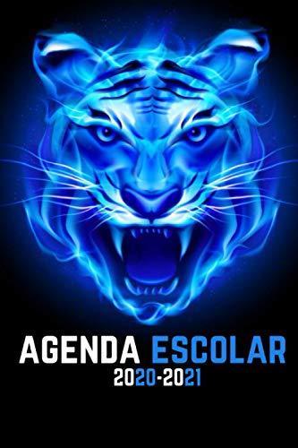 agenda escolar 2020-2021 niño: Agenda Tigre | primaria Colegio secundaria estudiante semana vista | calendario planificador semanal formal A5 | de septiembre de 2020 a septiembre de 2021