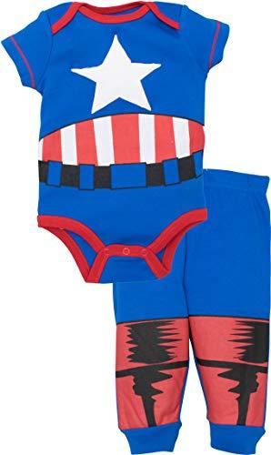 Marvel Avengers Baby Boys' Bodysuit & Pants Clothing Set, Captain America (18M)