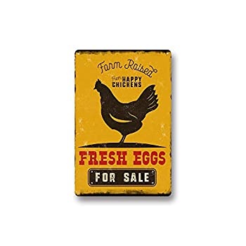 Modern Vintage Metal Tin Signs Fresh Eggs for Sale ! Wall Plaque Poster Cafe Bar Pub Beer Club Wall Home Decor 8x12 inches