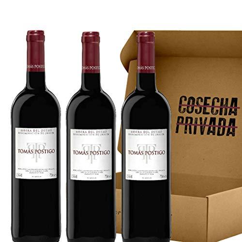 Tomás Postigo - Pack 3 botellas - Vino tinto - Ribera del Duero - Seleccionado por Cosecha Privada - Estuche Regalo