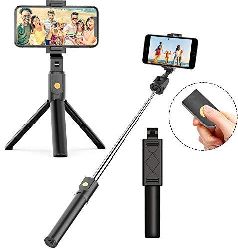 JUMKEET Perche Selfie Bluetooth, 3 en 1 Mini...