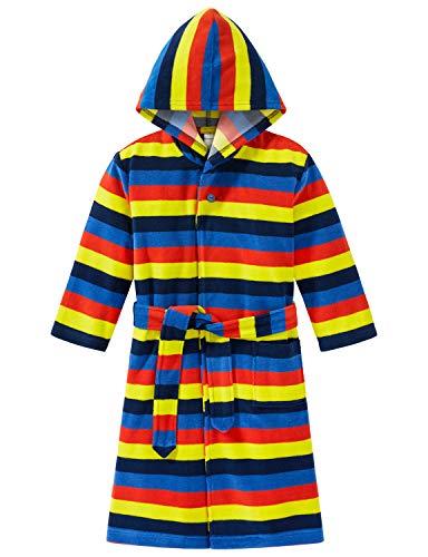Schiesser Jungen Bademantel, Mehrfarbig (Multicolor 1 904), 92 (Herstellergröße: 092)