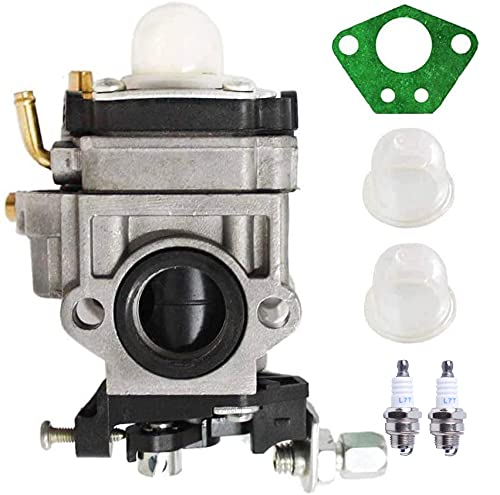 Carburador de repuesto de cortacésped para desbrozadora multifunción 5 en 1 43 cc 47 cc 49 cc 50 cc 52 cc con bombilla de imprimación + junta + bujía de encendido