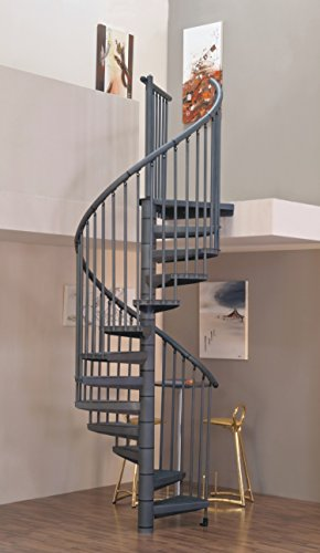 Spindeltreppe/Raumspartreppe Stella color DM 120 cm