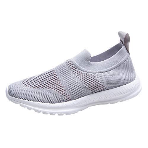 Zapatillas Deportivas de Mujer Running Verano 2020 PAOLIAN Zapatillas Mujer Deporte Fitness sin Cordones Baratas Zapatos de Mujer Caminar Vestir Cómodos Sneaker Ligero Transpirable