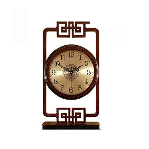 Nuevo Reloj de Escritorio Retro Chino Escritorio Creativo péndulo Reloj Reloj de Escritorio Reloj de la Sala de Estar (Color : B)