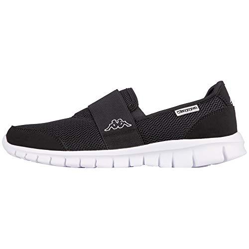 Kappa Unisex-Erwachsene Taro Sneaker, Schwarz (1110 White/Black), 38 EU