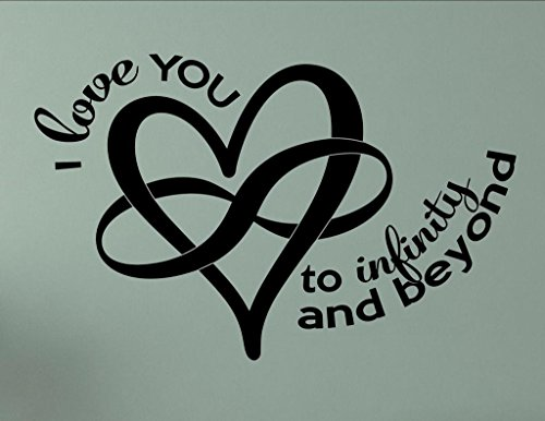I Love You to Infinity and Beyond - Vinyl Wall Sticker Matte Red