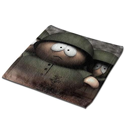 SJPillowcover South Park Zwei Quadratische Handtücher, Name, bedruckte Handtücher, flauschig weiche Handtücher für Kinder und Erwachsene