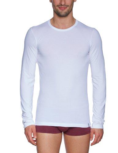 Schiesser Herren Shirt 1/1 Arm Unterhemd, Weiß (100-weiss), Large (6 (L))