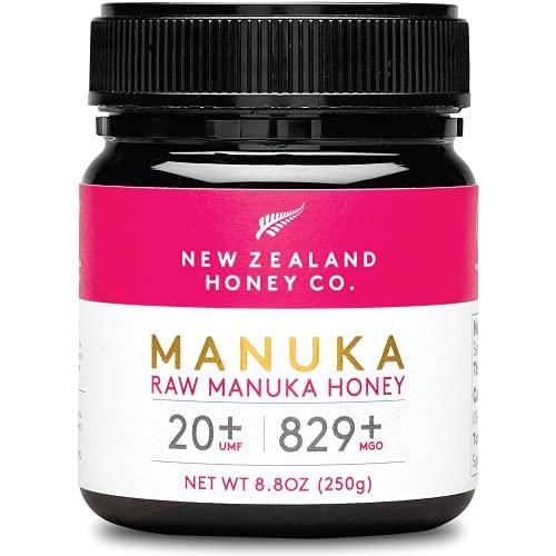 Miel de Manuka MGO 829+ / UMF 20+ de New Zealand Honey Co. | Actif et brut | Fabriqué en Nouvelle-Zélande | 250g