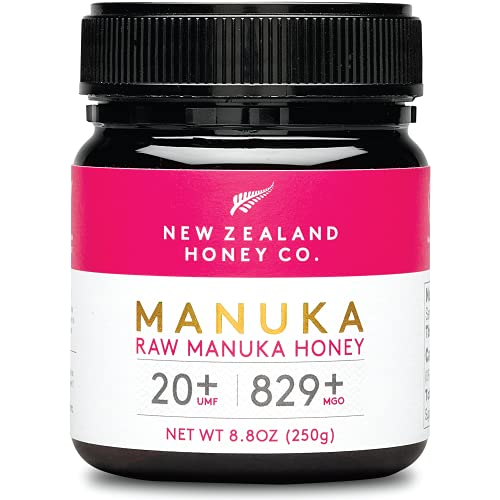 New Zealand Honey Co. Miel de Manuka MGO 829+ / UMF 20+ | Nueva Zelanda Miel 100% Pura y Saludable | 250g