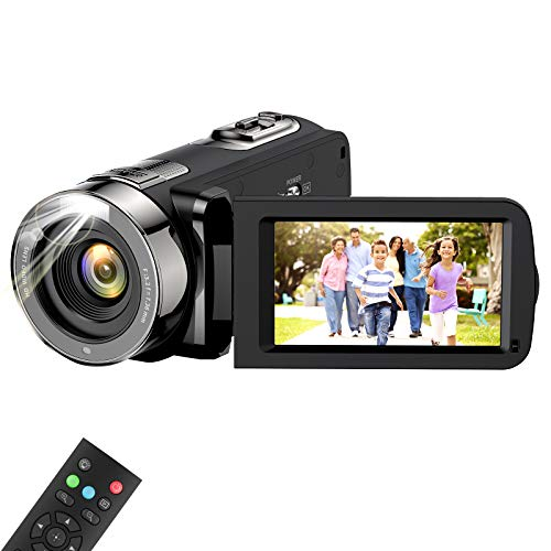 Video Camera Camcorder, wechi Full HD 1080P 15FPS 24MP Digital Camera Vlogging Recorder for YouTube 3.0 Inch Touch LCD Display 16X Digital Zoom Camcorders for Indoor/Outdoor with Remote Control